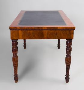 Italian Neoclassical Gilt-Metal Mounted Walnut Desk