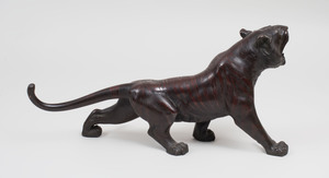 Japanese Patinated Bronze Figure of a Tiger
