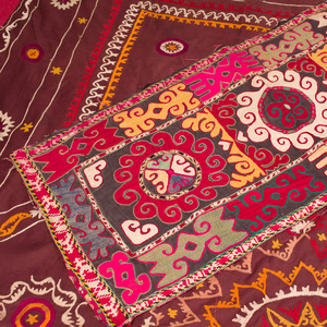 Embroidered Cotton Bed Covering and an Embroidered Cotton Runner