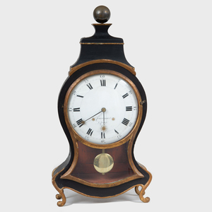 Courvoisier & Co. Painted and Parcel-Gilt Pendulum Clock