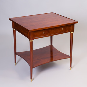 Empire Style Gilt-Metal-Mounted Mahogany Side Table