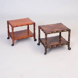 Two Faux Bamboo Telephone Tables