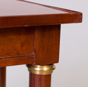 Pair of Directoire Style Gilt-Metal-Mounted Mahogany Side Tables