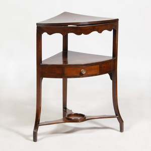 George III Style Mahogany Corner Wash Stand