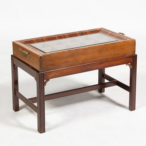 Continental Walnut Display Cabinet on Stand