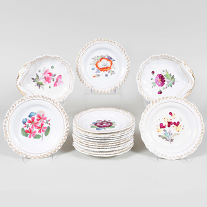 English Porcelain Part Dessert Service