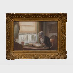 Gerke Henkes (1844-1927): Interior Scene
