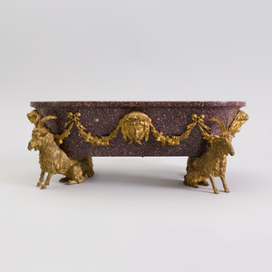 Fine Louis XVI Style Ormolu-Mounted Porphyry Basin, Possibly Italian