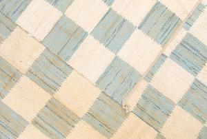 Nantucket Blue, Green and Cream Woven Rag Rug