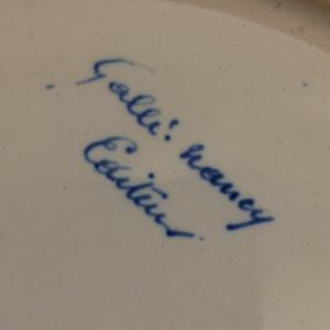 Large Sixty-Four Piece Gallé Blue and White Porcelain Dinner Service
