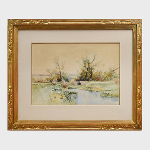 Bruce Crane (1857-1934): Ducks by a Stream