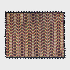 Black Ground Needlework Rug in the 'Prince Noir' Pattern