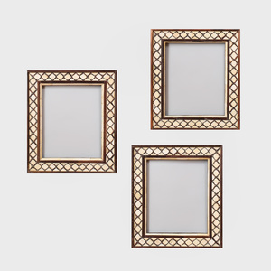 Group of Three Indian Bone Inlaid Frames