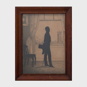 Attributed to William Henry Brown (1808-1883): Three Cut-Out Silhouettes of Gentlemen