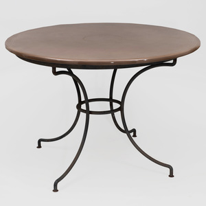 Pyrolave and Iron Center Table, of Recent Manufacture