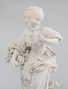 Three Derby Biscuit Porcelain Figures of Gardeners