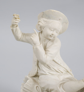 French Biscuit Porcelain Figure Group