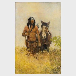 After Howard Terpning: Native with Horse