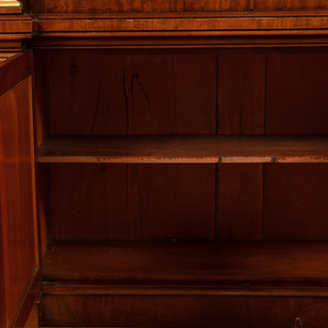 Large William IV Mahogany and Parcel-Gilt Library Bookcase