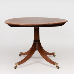 Regency Style Mahogany, Ebony and Boxwood Strung Breakfast Table