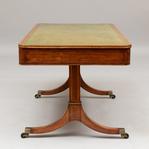 Regency Rosewood and Parcel-Gilt Writing Table