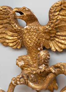 Swedish Neoclassical Carved Giltwood Eagle Wall Mount