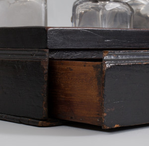 George III Black Stained Mahogany Ink Stand