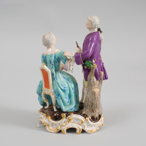 Meissen Porcelain Group of a Lady and a Gentleman