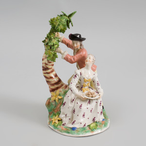 Vienna Porcelain Group of Gardeners
