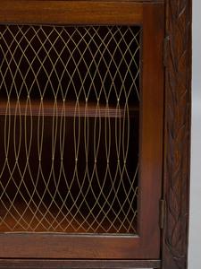 Regency Carved Mahogany Waterfall Bookcase
