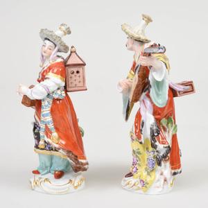 Pair of Meissen Porcelain Figures of Malabar Musicians
