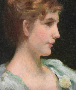 Attribued to Charles Courtney Curran (1861-1942): The Artist's Wife