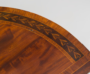 George III Inlaid Mahogany D-Shaped Commode