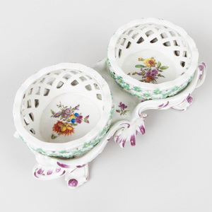 Vienna Porcelain Two Basket Sweetmeat Stand