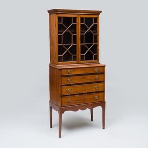 Chinese Export Padauk Bookcase
