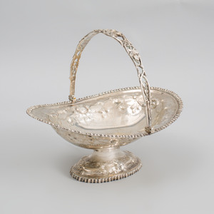 American Silver Cake Basket with Swing Bale Handle