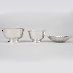Three American Silver Bowls
