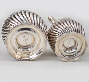 Victorian Silver Cream Jug and Sugar Bowl Set