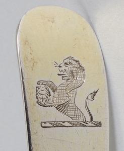 Victorian Silver-Mounted Cut Glass Cruet and an Irish George III Silver Pierced Spoon