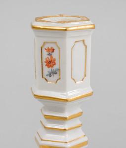Pair of Meissen Porcelain Candlesticks