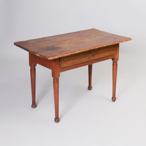 Queen Anne Pine and Butternut Tavern Table