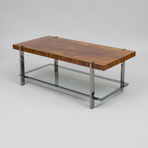 Kravet Chrome and Rosewood Low Table