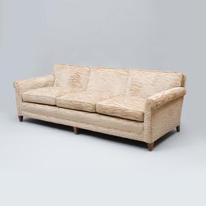 WJ Sloane Velvet Upholstered Three Seat Sofa