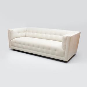 Kravet Ebonized and Ultrasuede Upholstered 'Yves' Sofa