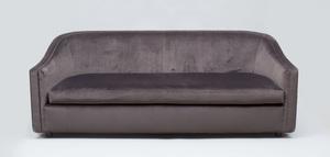 Bright Velvet Upholstered Barrel Sofa