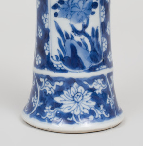Chinese Blue and White Porcelain Three Piece Garniture