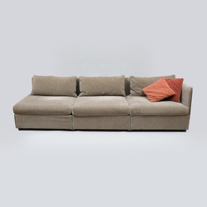 Mario Bellini Velvet Upholstered 'Char-a-Banc' Six Seat Sofa, for Cassina