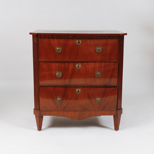 Continental Neoclassical Style Mahogany Chest of Drawers