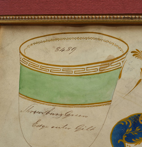 English School: Four Designs for Tea Cups