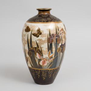 Japanese Satsuma Porcelain Baluster Vase